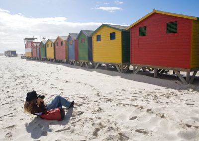 Colourful Beach Huts at Muizenberg